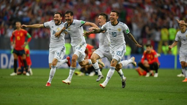 FIFA World Cup 2018: Russia defeat Spain 4-3 on penalties ...