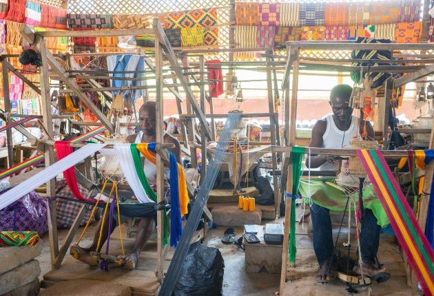 Bonwire Kente weaving. Image / ghana.for91days.com