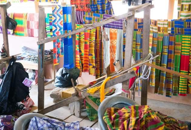 Bonwire Kente weaving. Image / ghana.for91days.com