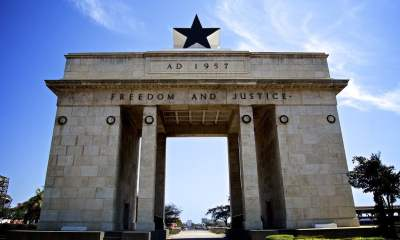 The Independence Arch of Ghana located at Independence Square in Greater Accra Region