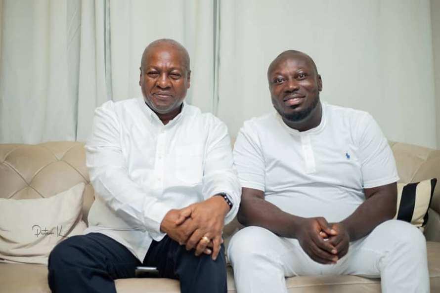 John Dramani Mahama and George Opare Addo