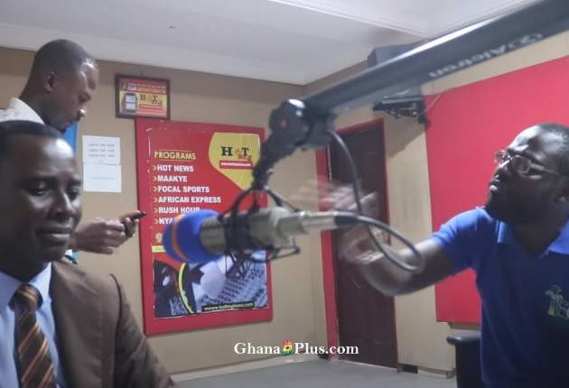 There was heated argument between Nana Afrari Kwagyir Aggrey and Tomtom, NDC Communicator