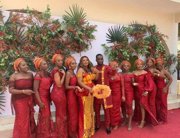 Salomey Selassie Dzisa and braidsmaids