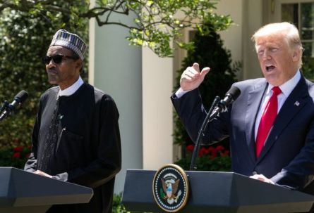 Donald Trump hails Nigeria's President Buhari for banning twitter