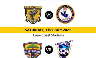 MTN FA Cup: Semifinal games to be played at Cape Coast Stadium this weekend
