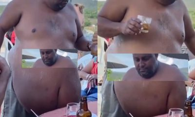 """Video : Man Spotted With Unusual """"Gargantuan"""" Belly"""