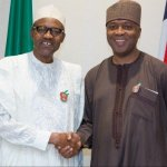Saraki in closed door meeting with Buhari