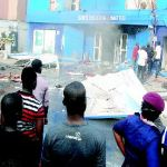 Fire guts railway coaches, Samsung office in Lagos
