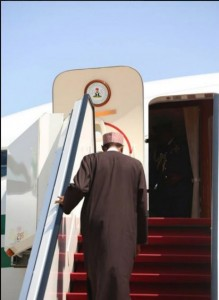 President Muhammadu Buhari leaving Nigeria for Malta, on Thursday, November 26, 2015, to participate in the 2015 Common-wealth Heads of Government Meeting (CHOGM)