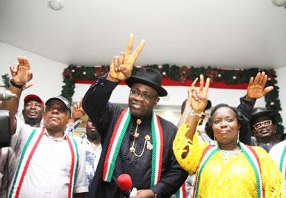 Governor Dickson jubilates over victory at Bayelsa re-run poll