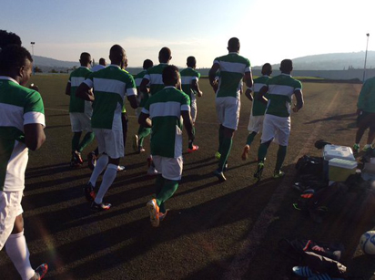 Head Coach, Sunday Oliseh, leading the Eagles for a light work out, ahead of their opening match against Niger Republic in a Group C fixture at the 2016 African Nations Championship at the Stade Régional Nyamirambo, Kigali on Monday