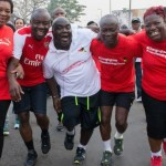 PICS: Ministers embark on health walk after retreat in Ho
