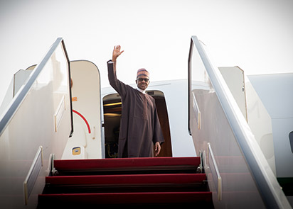 Buhari travels to Kenya on a state visit ; Photo: Bayo Omoboriowo
