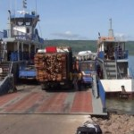 Sinking Ferry at Makango; passengers scramble for survival