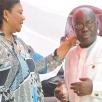 Rebecca Akufo-Addo weeps at presidential inauguration