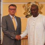 Outgoing German Ambassador to Ghana Ruediger Bids President Mahama Farewell