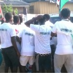 Youth rally support for John Mahama, Vanderpuye