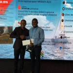 Abeiku Santana Donates Items Won At Indaba Travel Expo To  Ghanaian Journalist