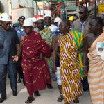 President Mahama inspects upgrading of Dunkwa - Twifo Praso - Assin Fosu road