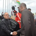 India President Mukherjee on state visit to Ghana-Pictures