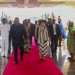 Liberia's President Johnson-Sirleaf Arrives In Ghana