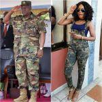 Mzbel imitates Mahama's salute in camouflage