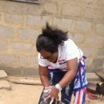 NPP Women Bathing Kids For Votes