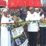 President Mahama inaugurates Abirem market
