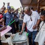 President Mahama in a comfortable lead