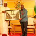 Ghana flag turned upside-down during Akufo-Addo, Barrow meeting