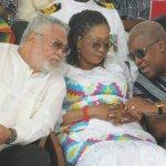 Wishing President Rawlings a happy 70th Birthday ---John & Lordina Mahama