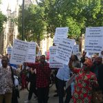 LONDON DEMO AGAINST AKUFO ADDO UNDERWAY