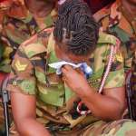 Photo of a soldier crying  at Major Mahama's Funeral is going viral and it's heartbreaking