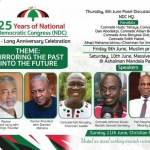 NDC outlines events for 25th Anniversary Celebration
