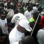 President Mahama Walks with over 100,000 NDC Faithfuls In Tamale