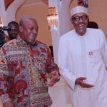 President Buhari hosts John Mahama (Pictures )