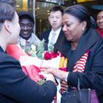 First Lady arrives in China
