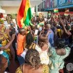 Ghanaians in Liberia give President John Mahama a rousing welcome (Pictures)