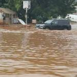Flood swallows parts of Accra, the capital city after this morning's rains (Pics)