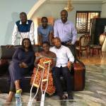 NDC MPs and former appointees visit youth activist injured by Police brutality at CID Headquarters