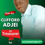 The CONTEST for Ablekuma North Constituency Treasurer of NDC--Clifford Adjei