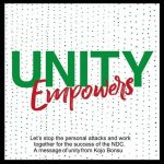 NDC to climax 'Unity Walk' with mammoth rally in Aflao on Saturday