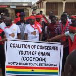Concerned Youth of Ghana demonstrate against Gov't over attempted Menzgold closure (Videos)