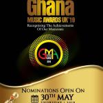 Nominations for 2019 Ghana Music Awards UK open on 30th May