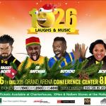 """Basket Mouth, Akpororo, Jacinta and OB Amponsah to perform live at """"A night of 1026 laughs"""