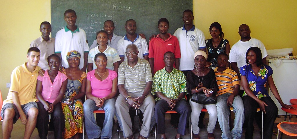 Die Lehrer des DVTC 2009 mit Albert Osei-Wusu