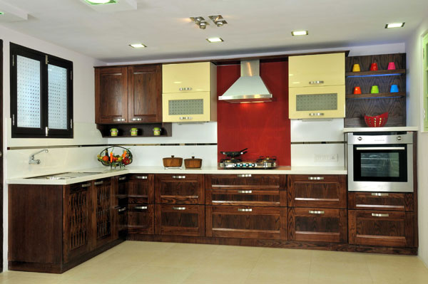 Small Kitchen Interior Design Ideas In Indian Apartments With Cool Lighting