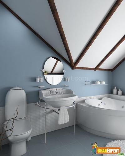 Blue is a receding color and always opens up small spaces. Bathromm colors