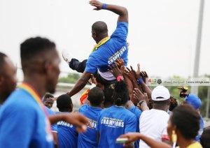 Hearts of Oak celebrate at Sogakope