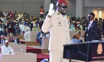 Guinea's Coup Leader, Mamady Doumbouya Sworn In As Interim President